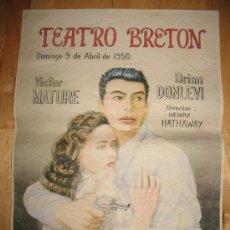 Coleccionismo de carteles: CARTEL DE CINE - DIN-A3 - EL BESO DE LA MUERTE - - TEATRO BRETON. Lote 23489568
