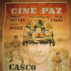 Coleccionismo de carteles: CARTEL DE CINE - DIN-A3 - CASCO DE ACERO - - CINE PAZ - ALCALÁ DE HENARES - MADRID. Lote 31291091