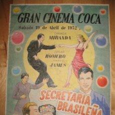 Coleccionismo de carteles: CARTEL DE CINE - DIN-A3 - SECRETARIA BRASILEÑA - - GRAN CINEMA COCA. Lote 23490338