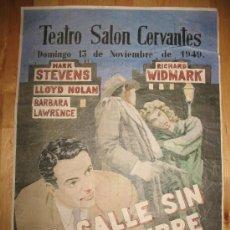 Coleccionismo de carteles: CARTEL DE CINE - DIN-A3 - LA CALLE SIN NOMBRE - - TEATRO SALÓN CERVANTES - ALCALÁ DE HENARES MADRID. Lote 31291153
