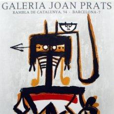 Colecionismo de cartazes: WIFREDO LAM / CARTEL ORIGINAL EXPOSICIÓN ÓLEOS ACUARELAS GRABADOS GALERÍA JOAN PRATS BARCELONA 1976. Lote 28893562