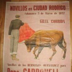 Colecionismo de cartazes: CARTEL DIN-A3 CORRIDAS DE TOROS PEPE CARBONELL SANTIAGO MARTIN EL VITI - - CIUDAD RODRIGO SALAMANCA. Lote 32369281