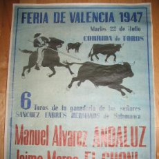 Coleccionismo de carteles: CARTEL DIN-A3 - CORRIDAS DE TOROS - ANDALUZ - EL CHONI - ROVIRA - - VALENCIA. Lote 32369305