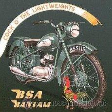 Coleccionismo de carteles: CUADRO CARTEL ANTIGUO MOTO BSA BANTAM. REPRODUCCION EN MADERA 50X50 CM. . Lote 67540570