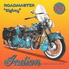 Coleccionismo de carteles: CUADRO CARTEL MOTO INDIAN ROADMASTER. REPRODUCCION EN MADERA 50X50 CM. . Lote 32804910