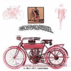 Coleccionismo de carteles: CUADRO CARTEL ANTIGUO MOTO MERKEL 1911. REPRODUCCION EN MADERA 40X40 CM. . Lote 32804969