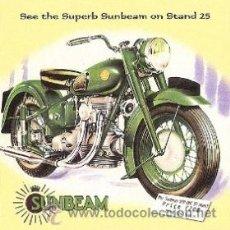 Coleccionismo de carteles: CUADRO CARTEL ANTIGUO MOTO SUNBEAM MILITAR. REPRODUCCION EN MADERA 40X40 CM. . Lote 32805034