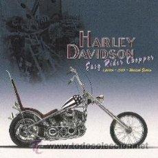 Coleccionismo de carteles: CUADRO CARTEL MOTO HARLEY DAVIDSON EASY RIDER CHOPER. REPRODUCCION EN MADERA 40X40 CM. . Lote 32805184