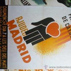 Coleccionismo de carteles: REPRODUCCIÓN CARTEL AJUDEU MADRID. Lote 32718415