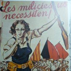 Collectionnisme d'affiches: REPRODUCCION CARTEL LES MILICIES US NECESSITEN. Lote 32734773