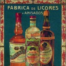 Coleccionismo de carteles: CUADRO CARTEL PUBLICIDAD DE LICORES Y ANIS NARCISO MUSTE DE REUS. REPRODUCCION EN MADERA 50X70 CM. . Lote 32803364