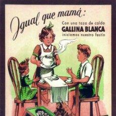 Coleccionismo de carteles: CUADRO CARTEL GIGANTE ESPAÑOL DE CALDO AVECREM GALLINA BLANCA. REPRODUCCION EN MADERA 100X70 CM. . Lote 32803988