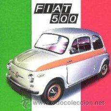 Coleccionismo de carteles: CUADRO CARTEL ITALIANO FIAT 500. REPRODUCCION EN MADERA 40X40 CM. . Lote 32804531