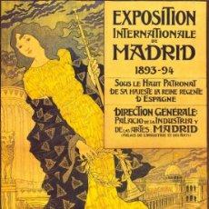 Coleccionismo de carteles: ANTIGUO CUADRO CARTEL (EN MADERA): EXPOSICION UNIVERSAL DE MADRID 1893- 1894. REPRODUCCION 80X60 CM. Lote 32807602