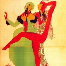 Coleccionismo de carteles: ANTIGUO CUADRO CARTEL (EN MADERA): CARNAVALES DE MADRID AÑO 1920. REPRODUCCIÓN 50X70 CM. Lote 196543245