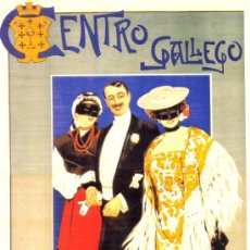 Coleccionismo de carteles: ANTIGUO CUADRO CARTEL (EN MADERA): CARNAVAL MADRID AÑO 1903. CENTRO GALLEGO. REPRODUCCIÓN 50X70 CM. Lote 36326112