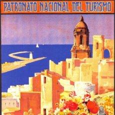 Coleccionismo de carteles: ANTIGUO CUADRO CARTEL (EN MADERA). PATRONATO NACIONAL DE TURISMO: MALAGA.. REPRODUCCIÓN 50X70 CM. Lote 240699015