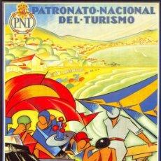 Coleccionismo de carteles: ANTIGUO CUADRO CARTEL (EN MADERA). PATRONATO NACIONAL DE TURISMO: BILBAO. REPRODUCCIÓN 100X70 CM. Lote 32807913