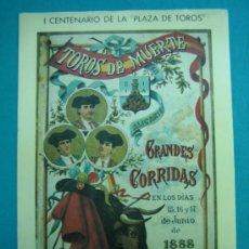 Collezionismo di affissi: C REPRODUCCION CARTEL EN SEDA PEGADA EN CARTULINA I CENTENARIO PLAZA DE TOROS DE ALICANTE 23X34 CM. Lote 34621368