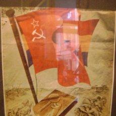 Coleccionismo de carteles: FOLLETO ENMARCADO .CONFERENCIA PARTIDO COMUNISTA.REPRODUCCION. Lote 35170735