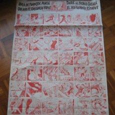 Colecionismo de cartazes: VOLEM L'ESTATUT. AUCA DE FRANCESC MACIA. 1977. FACSIMIL DEL ORIGINAL DE 1932. Lote 35218447