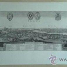 Colecionismo de cartazes: CARTEL-LAMINA REPRODUCCION VISTA DE PRAGA DE 1636 EN CARTULINA. 1977. Lote 36558321
