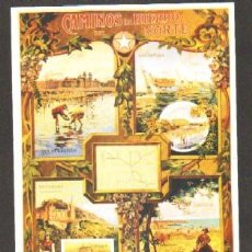 Collectionnisme d'affiches: REPRODUCCIÓN CARTEL CAMINOS DE HIERRO DEL NORTE, VIAJES DE RECREO ECONOMICOS… 33X22,5CM- LAMI-44,5. Lote 39596370