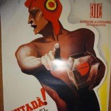 Coleccionismo de carteles: CARTEL GUERRA CIVIL. PROPAGANDA ELECTORAL. REPRODUCCIÓN. 100 X 68 CM. EN CATALÁN.. Lote 113839518