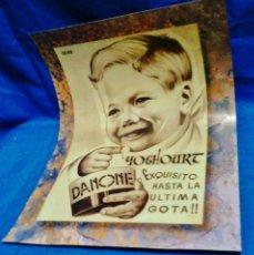 Coleccionismo de carteles: CARTEL PUBLICITARIO - REPRODUCCION ANTIGUO CARTEL DE YOGHOURT DANONE - AÑOS 70 - RD3. Lote 40049146