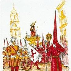 Coleccionismo de carteles: FOTOGRAFIA FACSIMIL SEMANA SANTA MALAGA SAETA 1958. VIÑEROS. Lote 40462690