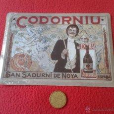 Coleccionismo de carteles: PEQUEÑO CARTEL CHAPA PUBLICITARIA METALICA METAL REPRODUCCION PUBLICIDAD CAVAS CODORNIU EXTRA . Lote 41378784