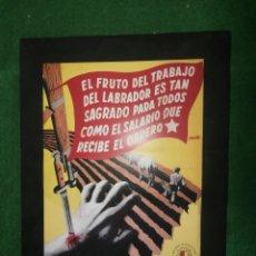 Coleccionismo de carteles: CARTEL DE PEPE RENAU 1938 REPRODUCCION SOBRE CARTULINA TAMAÑO DOBLE CUARTILLA. Lote 42506592