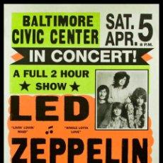 Collectionnisme d'affiches: LED ZEPPELIN, BALTIMORE, CIVIC CENTER MD US 32 JULIO 1973 / CARTEL CONCIERTO 30X40. Lote 42629191