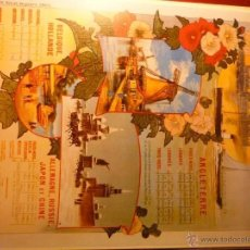Coleccionismo de carteles: REPRODUCCION CARTEL CARTULINA FERROCARRIL CHEMIN DE FER DU NORD. Lote 42856306