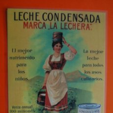 Coleccionismo de carteles: CARTEL - REPRODUCCION ANTIGUA PUBLICIDAD - LA LECHERA -PLASTIFICADO TAM.APROX.DINA3. Lote 116472620
