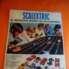 Collezionismo di affissi: PUBLICIDAD SCALEXTRIC - REPRODUCCION DE ANUNCIO DEL AÑO 1975 TAMAÑO 29 X 40 ACABADO PLASTIFICADO. Lote 46492733