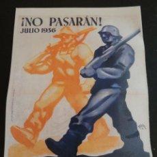 Coleccionismo de carteles: CARTEL GUERRA CIVIL ESPAÑOLA -NO PASARAN ! -REPRODUCCION-. Lote 46309515