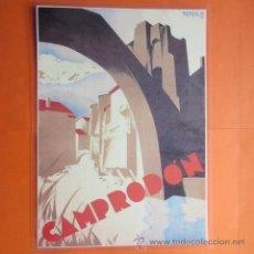 Coleccionismo de carteles: CARTEL - REPRODUCCION ANTIGUA PUBLICIDAD CAMPRODON - 24 X 34 CM.. Lote 220106931