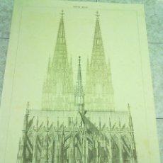 Coleccionismo de carteles: CARTEL EN CARTULINA REPRODUCCION GRABADO DE FRANZ SCHMITZ 1868 DE LA CATEDRAL DE COLONIA (ALEMANIA) . Lote 48571538