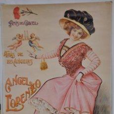 Coleccionismo de carteles: CARTEL REPRODUCCIÓN DE 1982 DE ANGEL LORENZO.. Lote 158011766