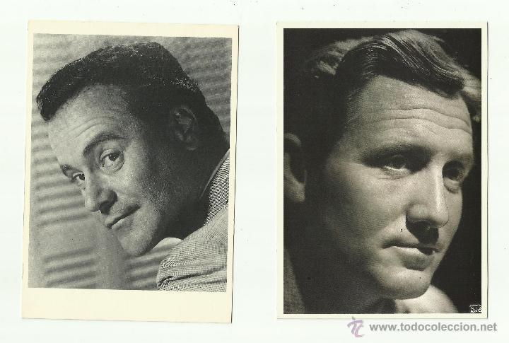TARJETAS (2) DE SPENCER TRACY Y JACK LEMON (Coleccionismo - Reproducciones de carteles)