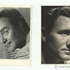 Coleccionismo de carteles: TARJETAS (2) DE SPENCER TRACY Y JACK LEMON. Lote 50262346