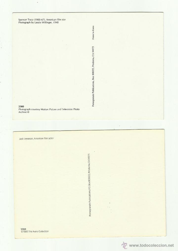 Coleccionismo de carteles: Tarjetas (2) de Spencer Tracy y Jack Lemon - Foto 2 - 50262346
