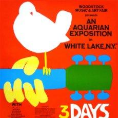 Colecionismo de cartazes: WOODSTOCK FESTIVAL !! CONCERT 15, 16, 17 AUGUST 1969 !! CARTEL CONCIERTO 30X40 !!. Lote 133976603