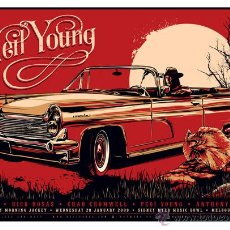 Collectionnisme d'affiches: NEIL YOUNG / SIDNEY MYER MUSIC BOWL, MELBOURNE, AUSTRALIA - JAN 28, 2009 - CARTEL CONCIERTO 30X40. Lote 51222330