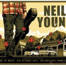 Collectionnisme d'affiches: NEIL YOUNG / ACADEMY OF MUSIC, PHILADELPHIA, PENSSYLVANIA 9 OCT 2014 - CARTEL CONCIERTO 30X40. Lote 51222440