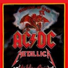 Collezionismo di affissi: AC/DC, MOTLEY CRUE, METALLICA , QUEENSRYCHE - MONSTERS OF ROCK 1991 !! CARTEL CONCIERTO 30X40 !!. Lote 166489436