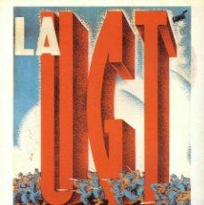 Coleccionismo de carteles: CARTEL GUERRA CIVIL * LA UGT COLUMNA... * (REPRODUCCIÓN/COLECCIÓN ED. URBIÓN). PERFECTO ESTADO.. Lote 53087579