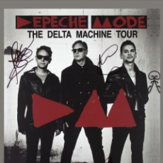 Coleccionismo de carteles: DEPECHE MODE - DELTA MACHINE TOUR, LAS VEGAS CONCERT 2013 !! CARTEL CONCIERTO 30X40 !!. Lote 253007025