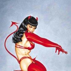 Coleccionismo de carteles: BETTIE PAGE - RED DEVIL FABRIC POSTER !! CARTEL 30X40 !!. Lote 220257713